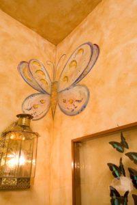 Venetian Plaster Wall Art Butterfly