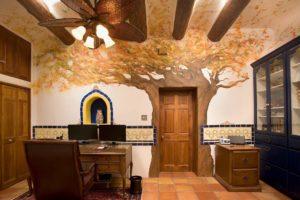 Venetian Plaster Wall Art Home Office Remodel